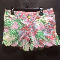 Lilly Pulitzer Buttercup Shorts Womens Sz 0 Resort White Mariposa