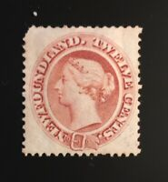 Stamps Newfoundland SC28 12c pale red brown QV mint. Please see description.
