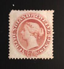 Stamps Newfoundland SC28 12c pale red brown QV mint. Please see description.