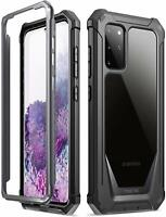 Poetic For Galaxy S20 Plus Case,Clear Back Shockproof Protective Cover Black