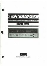 SANSUI Service Manual Pour 5000 X