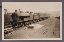 Lancashire CLITHEROE Railway loco #614 with train at Low Moor c1910/20s RP PPC