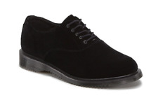 Doc Martens sexy black ze you velvet Briar lace up shoe size UK8 US10L US 9M