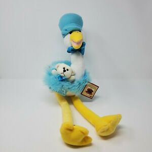Chantilly Lane Musical Animated Singing Stork Baby Boy Delivery NEW with tags