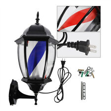 "20"" Barber Shop Pole Rotating Led Light Lamp Spa Hair Salon Sign Red Blue White"