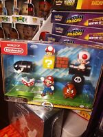 "2017 World of Nintendo -Super Mario -Acorn Plains Figure Set -2.5"" Jakks Pacific"