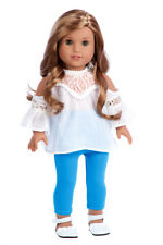 Trendy Girl - Doll Clothes for 18 in American Girl Doll Blouse Leggings Shoes