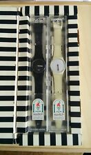 Pack 2 Swatch Heures Blanches et Minutes noires 1995