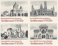 American Architecture, USA 15c, 4-Stamp Set, Unused, Scott #1838-41