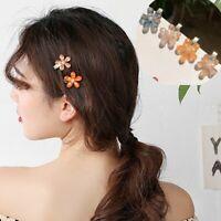 Sweet Girl Cute Flower Crystal  Hair Clip Hairband Bobby Pin Barrette Hairpin