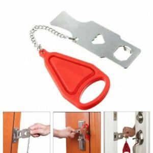 Portable Hotel Door Lock Travel Student Accommodation Home Security Lock UK