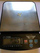 More details for genuine 21 to 23 carat gold alaskan nuggets 0.5 grams total
