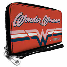 Wonder Woman Script Logo Zip Around Wallet Multi-Color