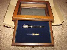 """*ANCORA* 218/333 """"80th Anniversary Grand Complication"""" Fountain Pen Black Silver"""