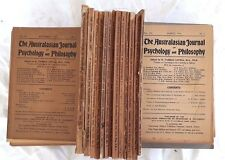 34 Issues of Australian Journal Psychology & Philosophy 1928-1946