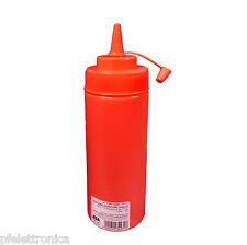 Bottiglia Flacone dosatore rosso ILSA con tappo  720ml x salse decorare piatti