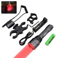 256 Yard Rot LED Jagd Licht Predator Taschenlampe Zielfernrohr montiert Licht
