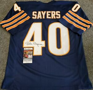 CHICAGO BEARS GALE SAYERS AUTOGRAPHED SIGNED JERSEY JSA COA
