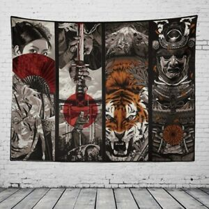 Hippie Psychedelic Tapestry Decoration Wall Hanging Blanket Art Home Deco Tiger.