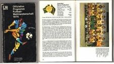 Orig.Complete Programm   World Cup Germany 1974  !!!  VERY RARE