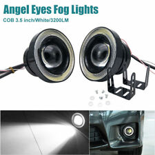 "2x COB 3.5 "" universale LED Angel Eyes Aggiornare Lampadine Halo Anelli Kit"