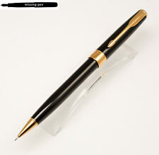 Parker Sonnet Pencil (0.5 mm) in Glossy Black-Gold (broad gold ring)
