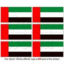 "UNITED ARAB EMIRATES Flag UAE Dubai Mobile Cell Phone Mini Decal Sticker 1.6"" x6"