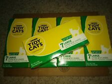 "5 Boxes Tidy Cats Large Litter Box Liners 7 Liners Fits 18"" x 20"" x 7"" Box"