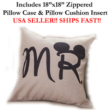 "18"" 18in 18x18 MR MISTER MICKEY PHOTOBOOTH PROP Zippered Pillow Case & Cushion"