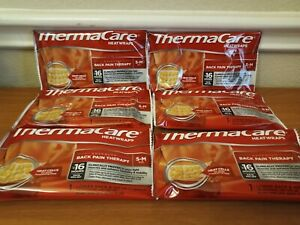 Lot of 6 ThermaCare Heatwraps Lower Back & Hip Size SMALL-MEDIUM Exp 08/2022