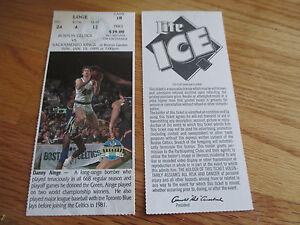 Game 18 DANNY AINGE Last Season BOSTON CELTICS 1/15/95 TICKET Boston Garden