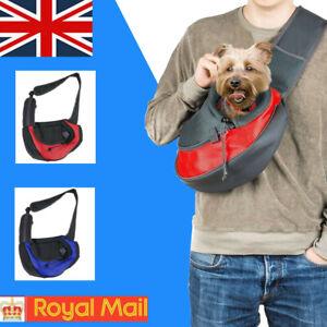 Hands Free Pet Sling Pet Carrier Bag Breathable Mesh Travel Dog Cat Sling Bag UK