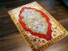 ANTIQUE 1890-1900 VERY FINE TURKISH PURE SILK SMALL RUG GREAT COLORS