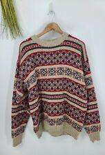 Eddie Bauer Mens Large Pull Over Sweater Fair Isle Multicolor #121