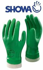 Showa 600 PVC Green Gardening Waterproof Gloves Knit Wrist Size 10/xl