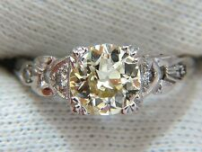 1.33ct vintage class old mine cut natural diamond engagement ring platinum+