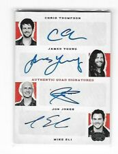 "PANINI COUNTRY MUSIC ""ELI-YOUNG BAND"" THOMPSON/YOUNG/JONES/ELI QUAD AUTO #11/25"
