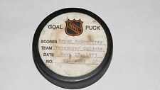1973-74 Bryan McSheffrey Vancouver Canucks Game Used Goal Scored Puck -8th G!