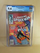 Amazing Spider-Man #252 CGC 9.4 WP Newsstand Edition 1st black costume-Venom