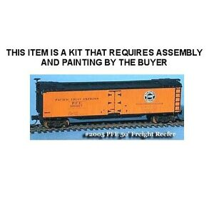 PACIFIC FRUIT EXPRESS 50' WOOD ICE REEFER KIT - N SCALE: FNS #FNR-2005