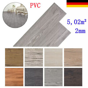 PVC Laminat Dielen Selbstklebend 5,02m² 2mm Laminatboden mehrere Auswahl Neu DE