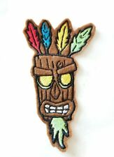 Aku Aku Crash Bandicoot mask iron on patch 120mm x 70mm