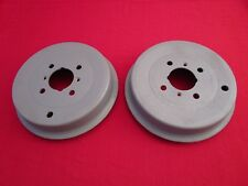 Pair of Reconditioned 10-inch OEM Brake Drums for Triumph TR3 and TR3A