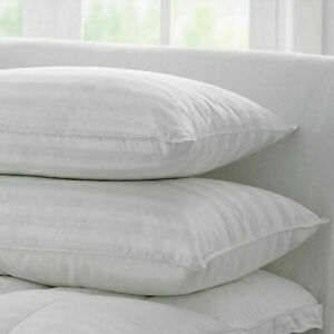 Extra Large JUMBO Pillows HOTEL QUALITY Striped Pillows DELUXE PILLOWS Pack of 4