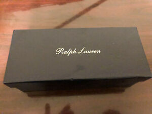 Ralph Lauren Purple Label Sunglasses Box and Leather Case Gold