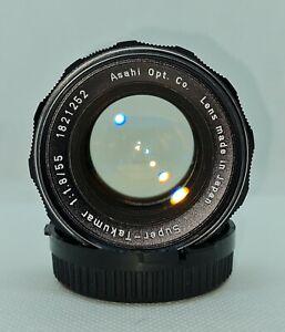 Asahi (Pentax) Super-Takumar 55mm f/1.8 M42 Prime Lens