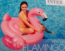 Flamingo Schwimmtier Badeinsel Schwimminsel Intex 142x137x97cm 57558