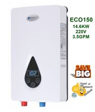 Electric Tankless Water Heater 3.5 GPM 220V 14.6 KW Endless Hot Water REFECO150