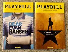Dear Evan Hansen AND Hamilton playbill *Discounted*(Read details) Both playbills