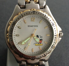 Rare Fossil DS-548 Diver Style Mickey Mouse Character Watch Lot